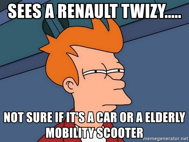 Sees A Renault Twizy Not Sure If It S A Car Or A Elderly