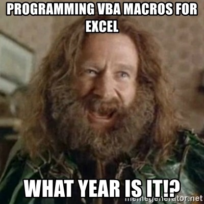 Programming Vba Macros For Excel What Year Is It What Year