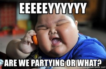 Image result for we partying?