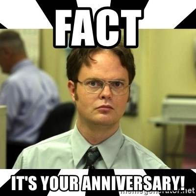 Fact It S Your Anniversary Dwight From The Office Meme Generator