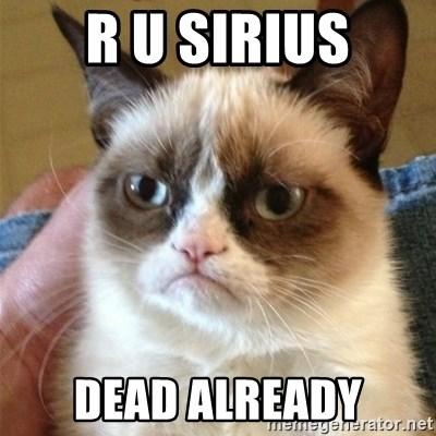 R U Sirius Dead Already Grumpy Cat Meme Generator