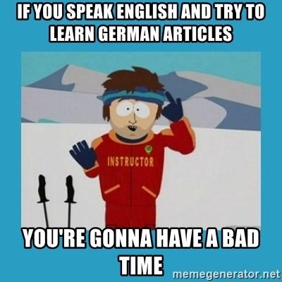German Vs English Funny Novelty Translation Meme Framed Art Print