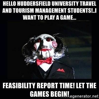 Hello Huddersfield University Travel And Tourism Management