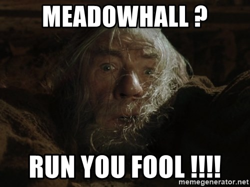Meadowhall Run You Fool Gandalf Run You Fools Closeup