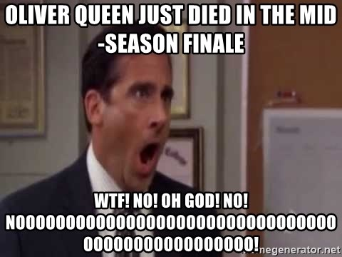 Oliver Queen Just Died In The Mid Season Finale Wtf No Oh God