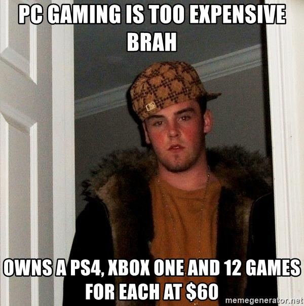 Pc Gaming Is Too Expensive Brah Owns A Ps4 Xbox One And 12 Games