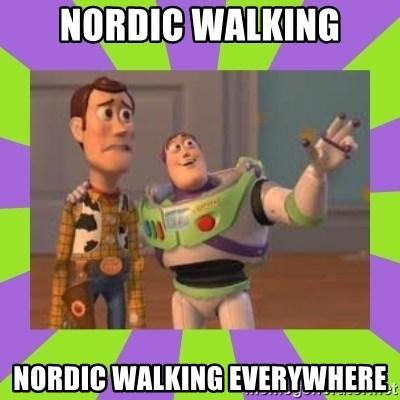 Nordic Walking Nordic Walking Everywhere X X Everywhere Meme