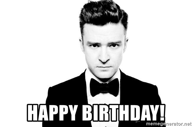 Happy Birthday Justin Timberlake Suit Meme Generator