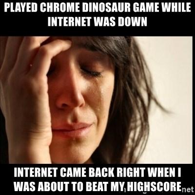 My School Blocked The Chrome Dinosaur Game Fml Daily Lol Pics
