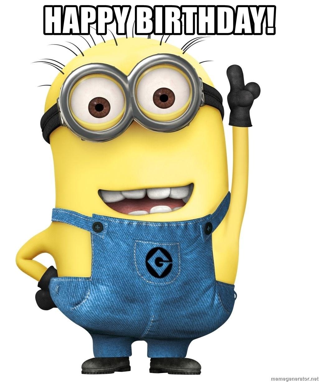Happy Birthday Despicable Me Minion Meme Generator