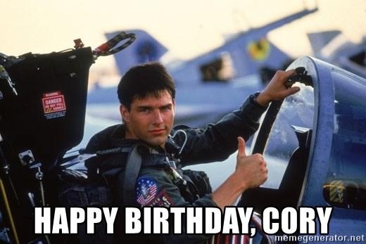 Happy Birthday Cory Tom Cruise Thumbs Up Top Gun Meme Generator