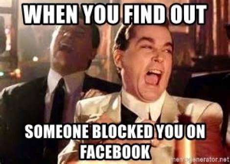 When you find out Someone blocked you on Facebook - Goodfellas laughing it  up | Meme Generator