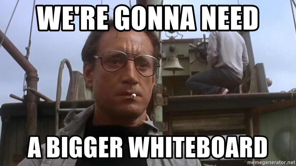 We Re Gonna Need A Bigger Whiteboard Jaws Meme Meme Generator