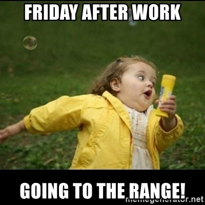 Friday After Work Going To The Range Running Girl Meme Generator