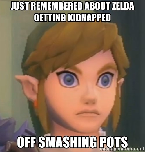 Just Remembered About Zelda Getting Kidnapped Off Smashing Pots