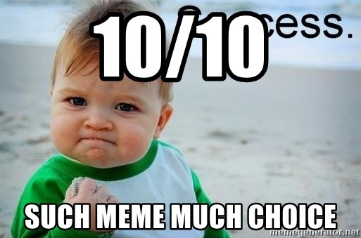 10 10 Such Meme Much Choice Success Baby Meme Generator