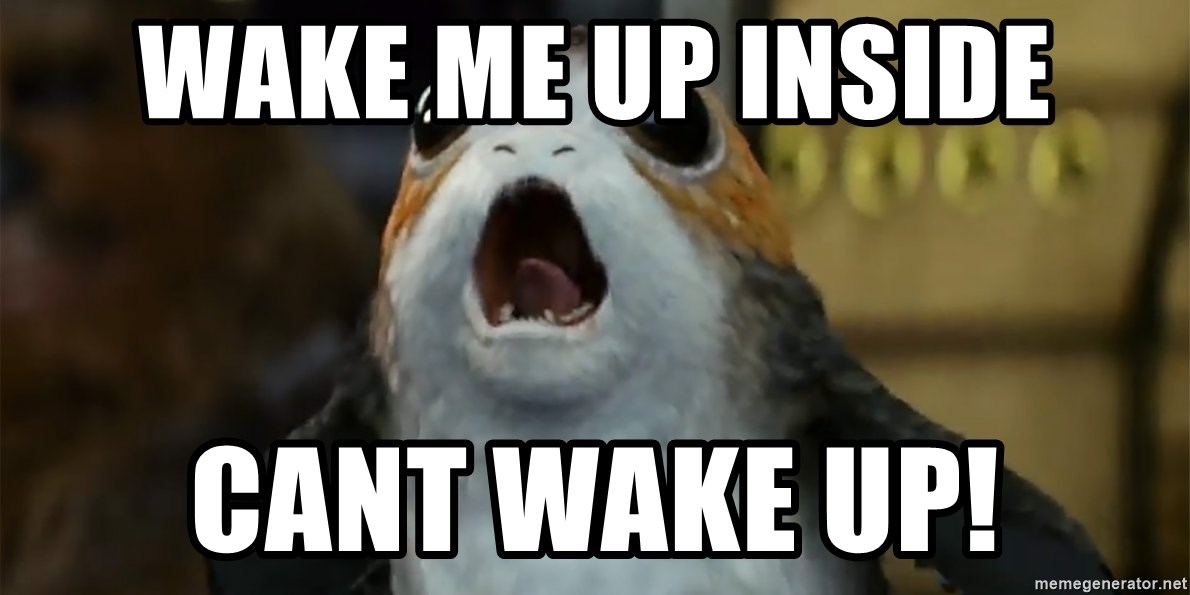 Wake Me Up Inside Cant Wake Up Raor Meme Generator
