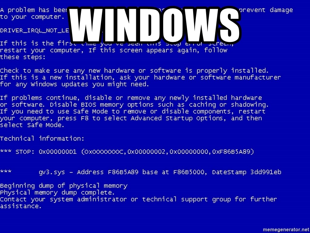 Windows Bsod Meme Generator