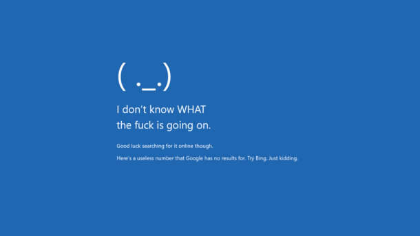 Blue Screen Of Death Windows Meme Guy