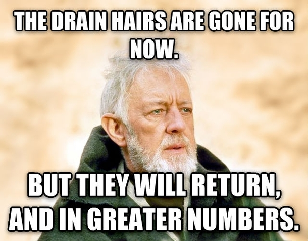 Image result for hair in the shower meme