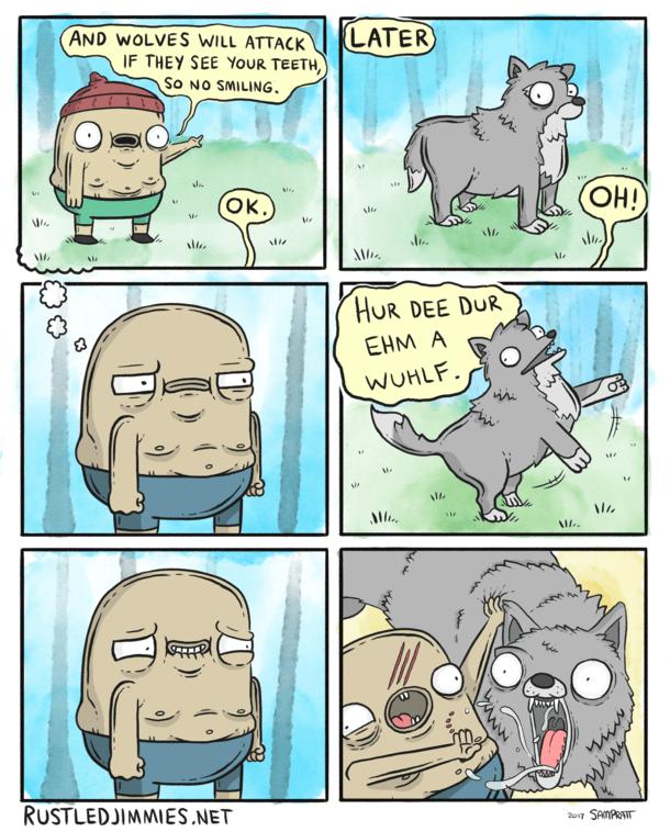 Dont Smile At Wolves Meme Guy