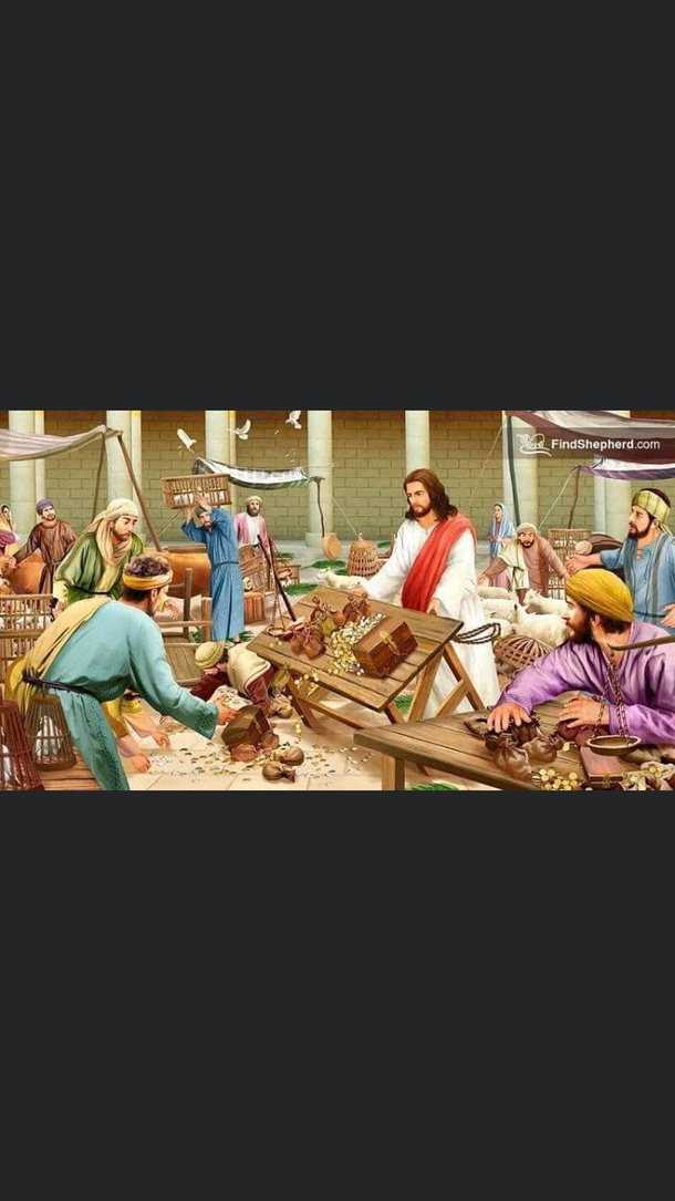 Jesus Is Not Vandalizing Hes Checking His Table For Stability And