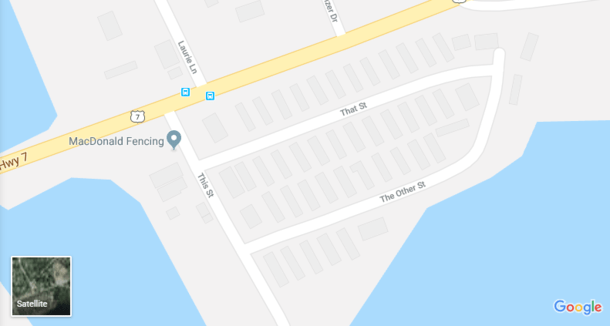 Looks Like The Street Naming Guy Wanted To Get Off Work Early
