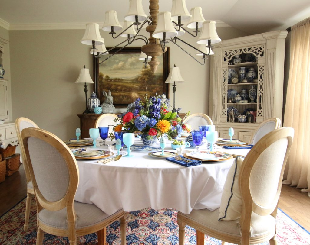 Setting The Table For Easter Dinner: A Colorful Floral