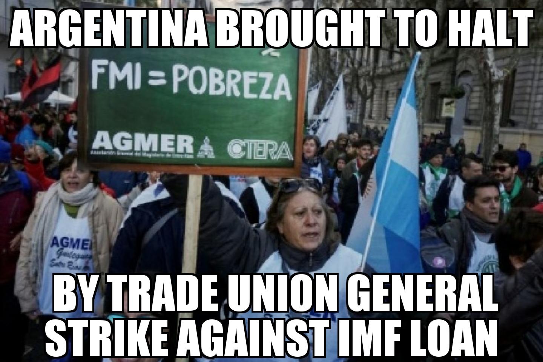 Argentina Anti Imf Strike Memenews Com