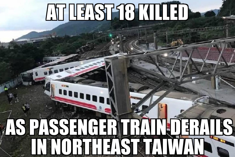 Taiwan Train Derails Memenews Com