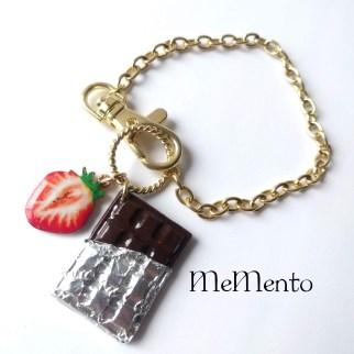 板チョコレートバッグチャーム