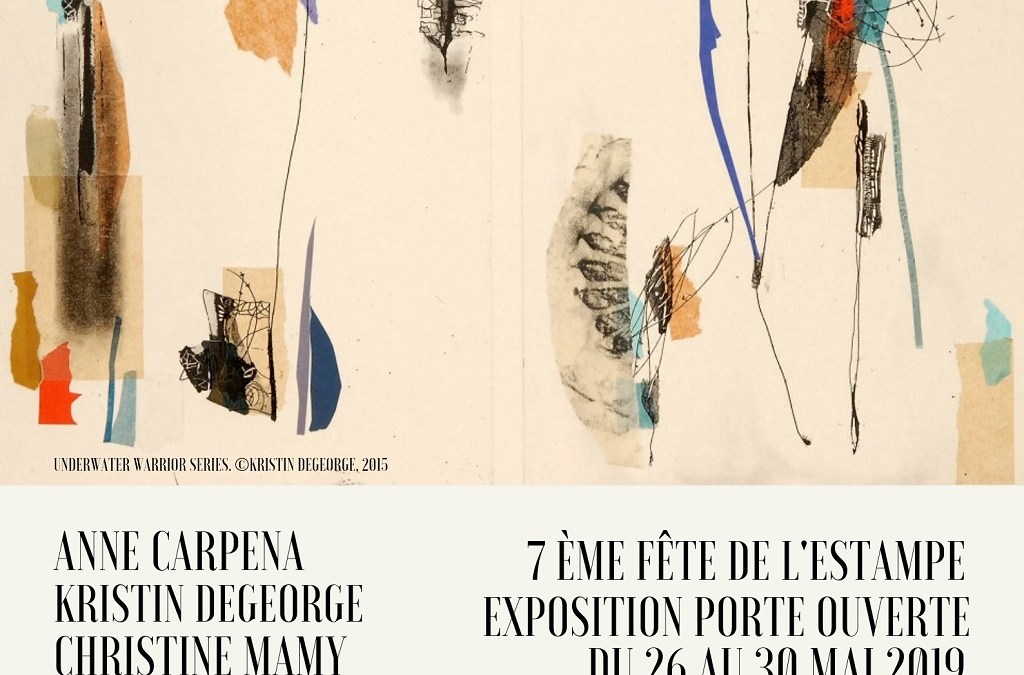 26-30 MAI 2019 – Exposition porte ouverte à l'atelier  la Charnière à la Roque d'Anthéron en partenariat avec la 7e Fête de l'Estampe