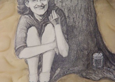 Decoupaged Scarf Portrait