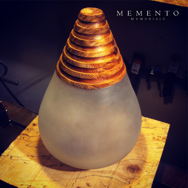 Hand Blown Glass Urn Prototype