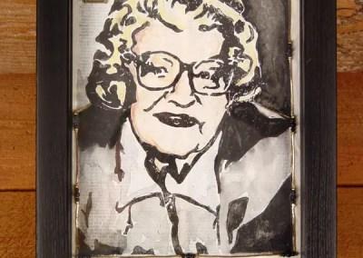 Decoupaged Portrait Print