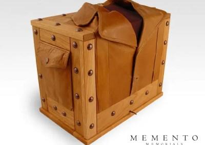 Leather Jacket Urn and Keepsake Box