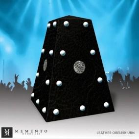 Leather Obelisk Urn
