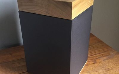 Meta Poplar Cremation Urn w/ New Powder Texture