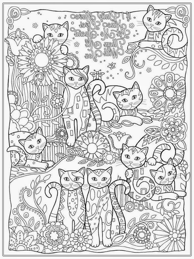 cat coloring pages for adult www realisticcoloringpages com