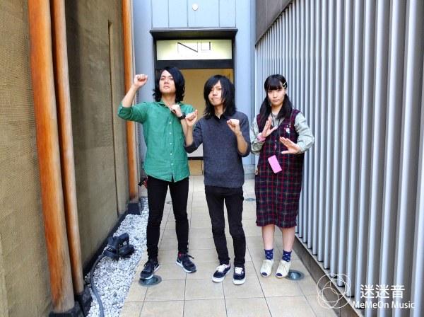 自左至右:森本(Dr)、小山(G)、柴田(Ba)