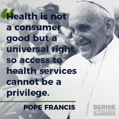 Pope Francis healthcare is a right meme