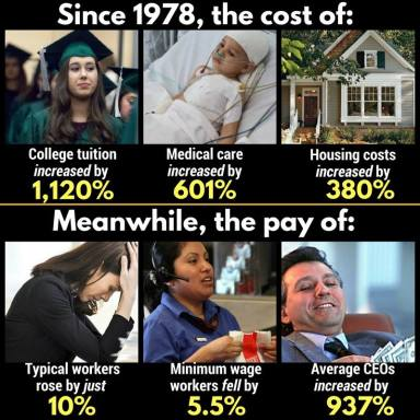 costs of living since 1978 meme