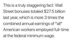 Robert Reich Wall Street Bonuses