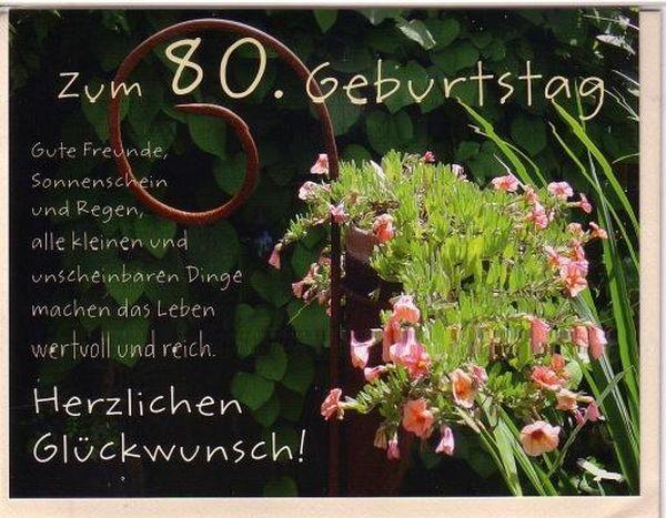 Bilder Spruche Gluckwunsche Zum 80 Geburtstag Meyluu