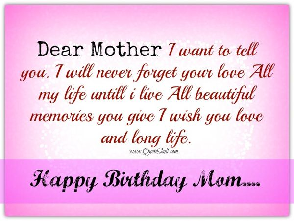 Funnyfor Happy Birthday Mom Quote