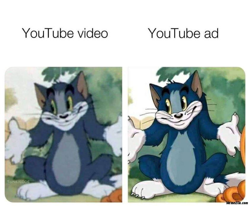 Youtube Video Vs Youtube Ad Meme Memezila Com