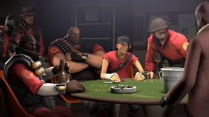 Image of Team Fortress characters sat at a poker table