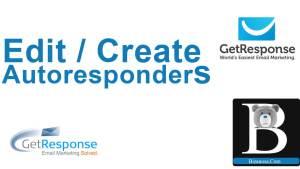 How to edit autoresponder in GetResponse (Create Autoresponders)