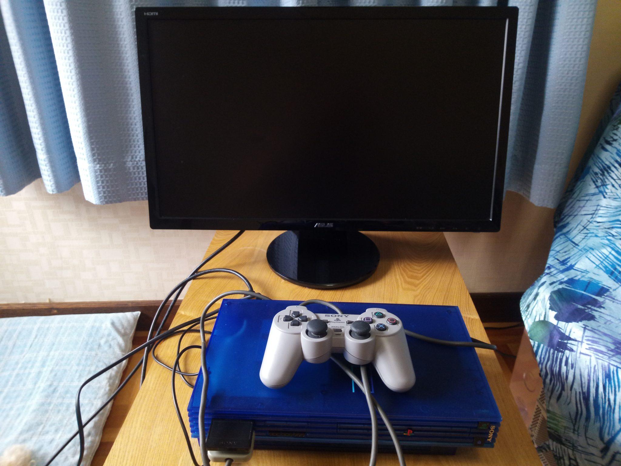 PS2をPCモニターに接続してプレイする方法