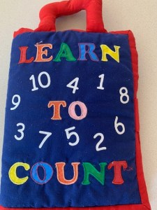 An image of a Learn to Count fabric book
